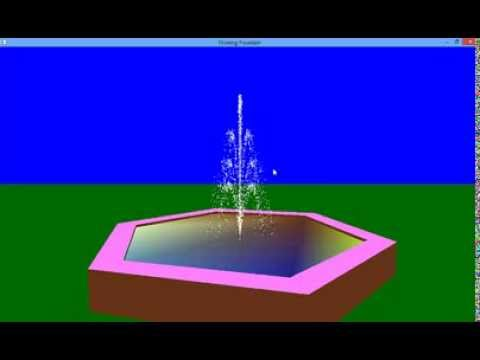 Flowing Fountain OpenGL Projects