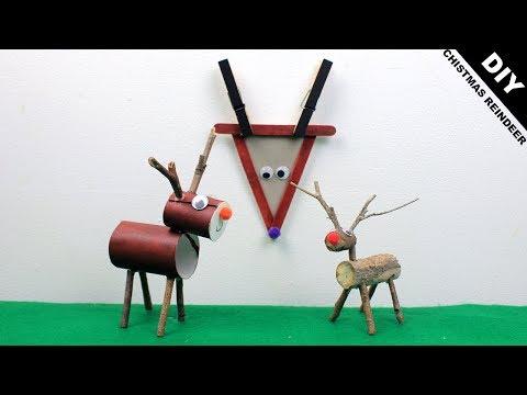 How to make Christmas Reindeer DIY   Easy Craft Ideas