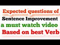 Expected Questions of sentence improvement based on best verb for ssc cgl 2017