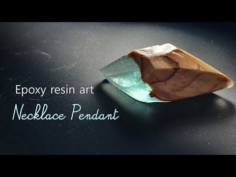 DIY, Epoxy resin art, How to Make a Necklace Pendant