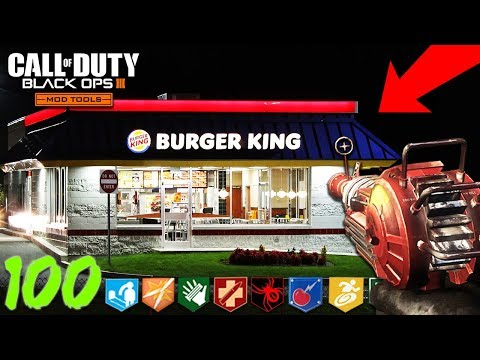 """BURGER KING ZOMBIES"" - BUYABLE ENDING & EASTER EGG! - BLACK OPS 3 ""CUSTOM ZOMBIES"" MAP! (BO3 Mods)"
