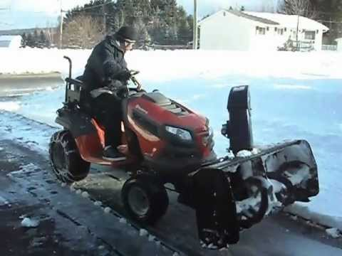 C5 Quad Operating Adapted Snowblower Lawnmower Youtube