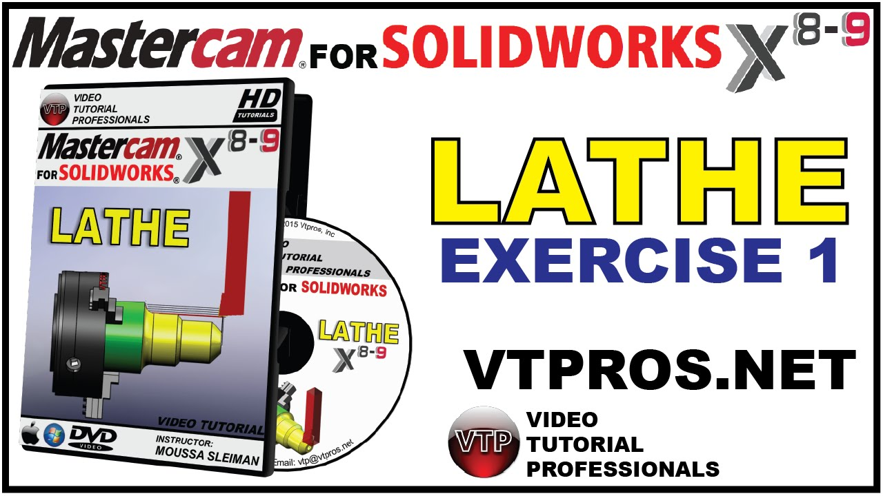 MILL /& LATHE Video Tutorial Training Bundle MASTERCAM X8-X9 FOR SOLIDWORKS