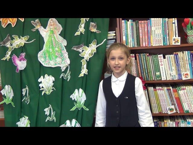 Изображение предпросмотра прочтения – ЗлатаОвсийчук читает произведение «Весна» К.Кубилинскаса