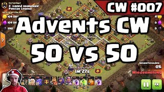 Clash of Clans | 🔴Live: 50 vs 50 Advents Clankrieg C.Z.P.R. | CW#007 | [Deutsch]