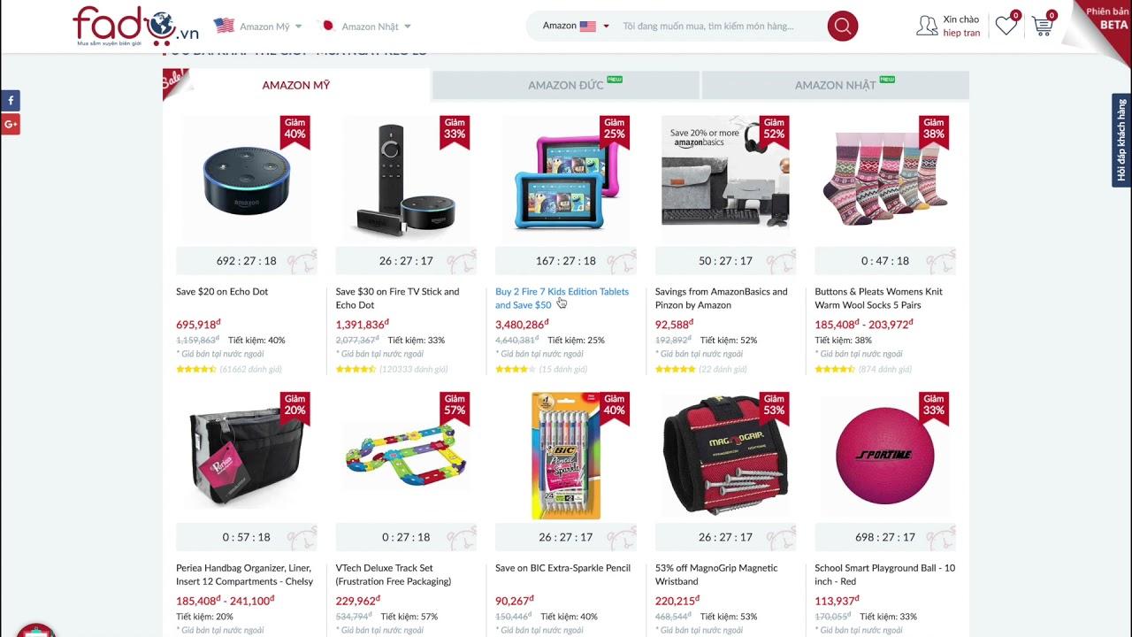 Trải nghiệm mua hàng từ Amazon Mỹ, Đức Nhật qua Fado.vn