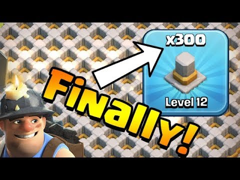 FINALLY 300 WALLS DONE!  TH12 Farm To Max   Clash Of Clans