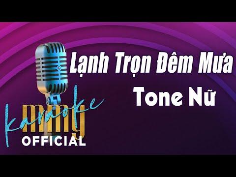 Lạnh Trọn Đêm Mưa (Karaoke Tone Nữ) | Hát với MMG Band