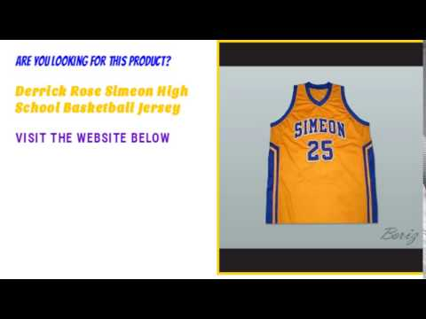 official photos 67a63 397b7 Derrick Rose Simeon High School Basketball Custom Jersey