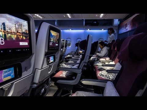 QATAR AIRWAYS A380 ECONOMY CLASS | QR830  Doha - Bangkok | FLIGHT REVIEW
