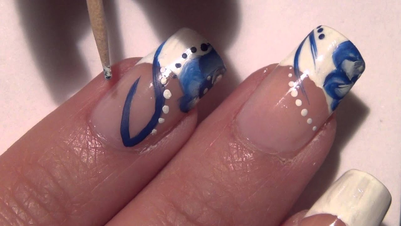 Acrylic Paint Nail Art Design Youtube