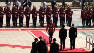 Монгол Улсын Ерөнхийлөгч Ц.Элбэгдорж ОХУ-ын Ерөнхийлөгчийг хүндэтгэн угтлаа