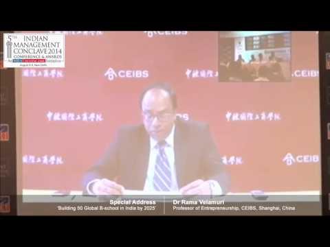 Dr Rama Velamuri, Professor of Entrepreneurship, CEIBS, Shanghai, China