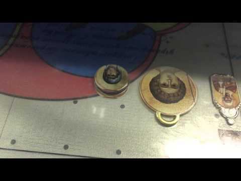Печать на иконках (латунь) УФ принтер Azon QUV