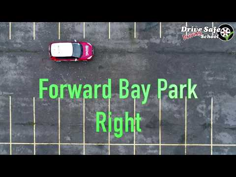 A Drones View & Tutorial of the Forward Bay Parking Manoeuvre UK driving test from 4th December 2017