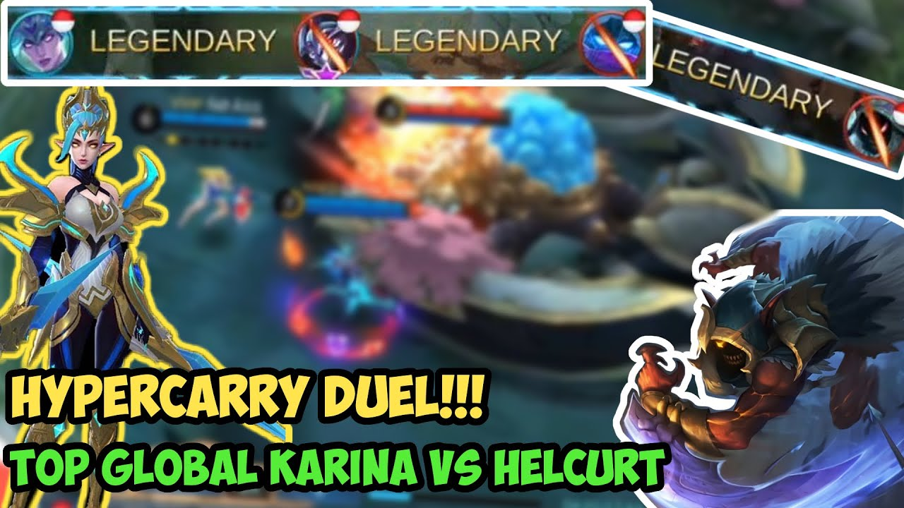 Hypercarry Duel!!! Top Global Karina Best Build vs Helcurt - Mobile Legends