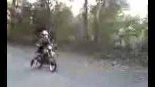 Joc on a motor bike