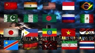 Dünya'da En Çok Nüfusa Sahip 20 Ülke (2018)