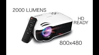 Amazing ABOX T22 HD Ready Mini Projector Play PS4, Watch Movies on 176 inch HD Screen