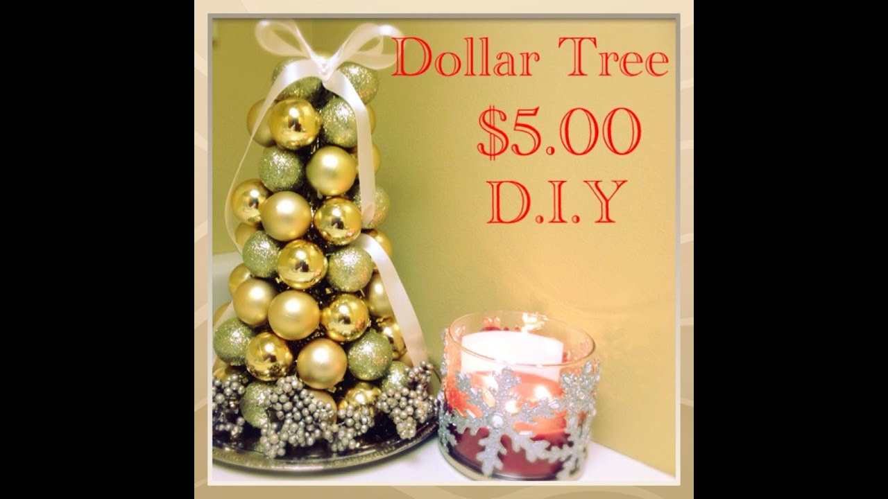 How To Make Christmas Decorations Youtube: D.I.Y Dollar Tree Christmas Ornament Tree $5.00 #17