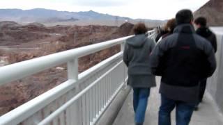 Walk over New Hoover Dam Bypass Colorado River Bridge US93