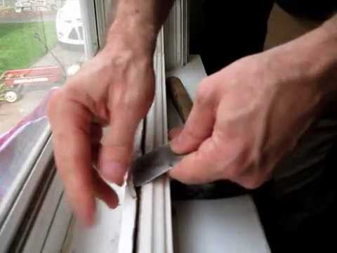 Broken Window Pane Replacement: Step #2, Removing The Old Glazing   YouTube