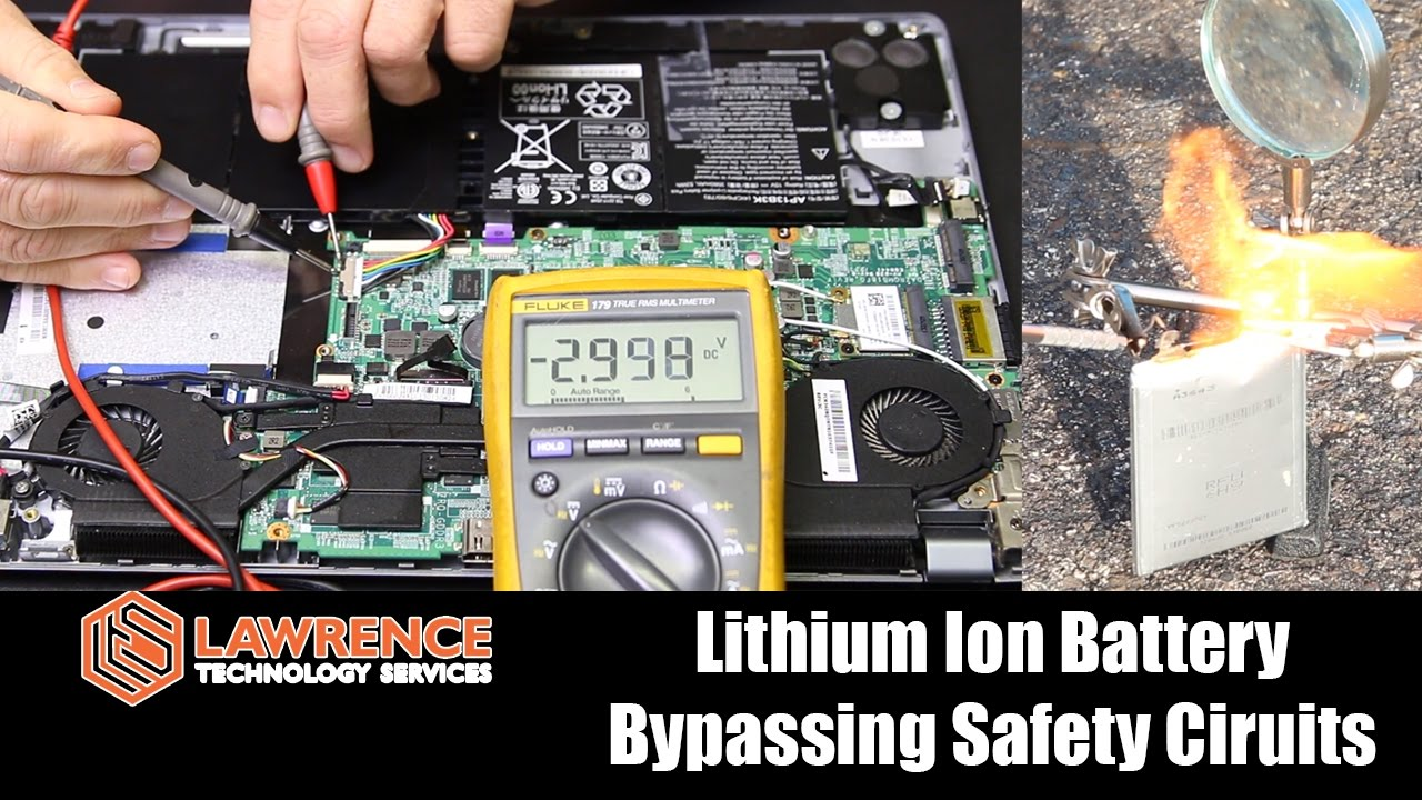 lithium ion battery tear down safety circuits fire youtube rh youtube com