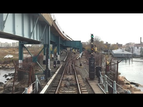 NYC Subway HD 60fps: Budd R32 A Train Round Trip Railfan Win