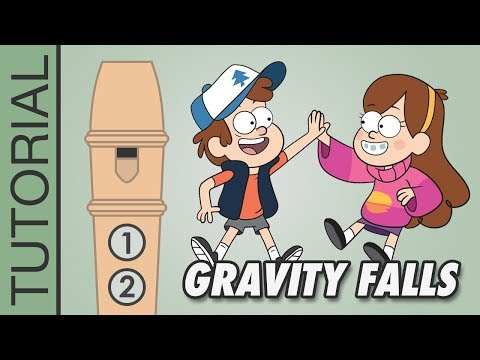 Gravity Falls - Recorder Notes Tutorial - Flauta Dulce