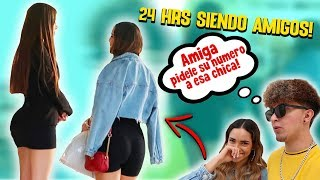 24 HORAS SIENDO AMIGO DE MI NOVIA *se liga a otra chica para mi*