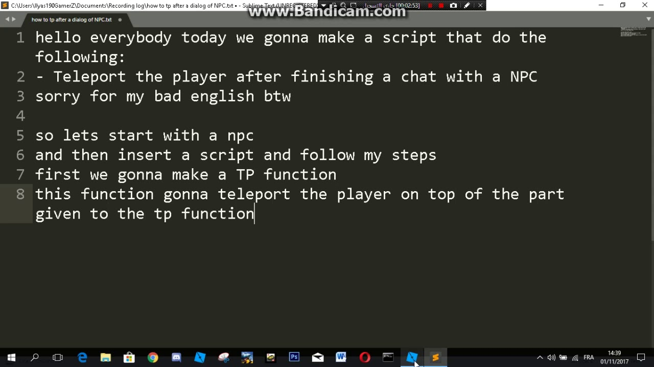 how to make a NPC teleport chat on roblox (Part1)