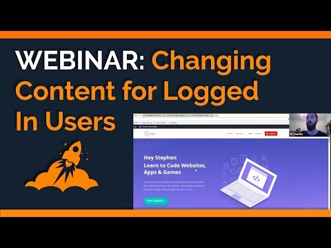 Divi Space Webinar: Changing content for logged in/logged ou
