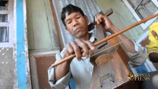 Khasi tribe violin musical instrument in Meghalaya, North East India.