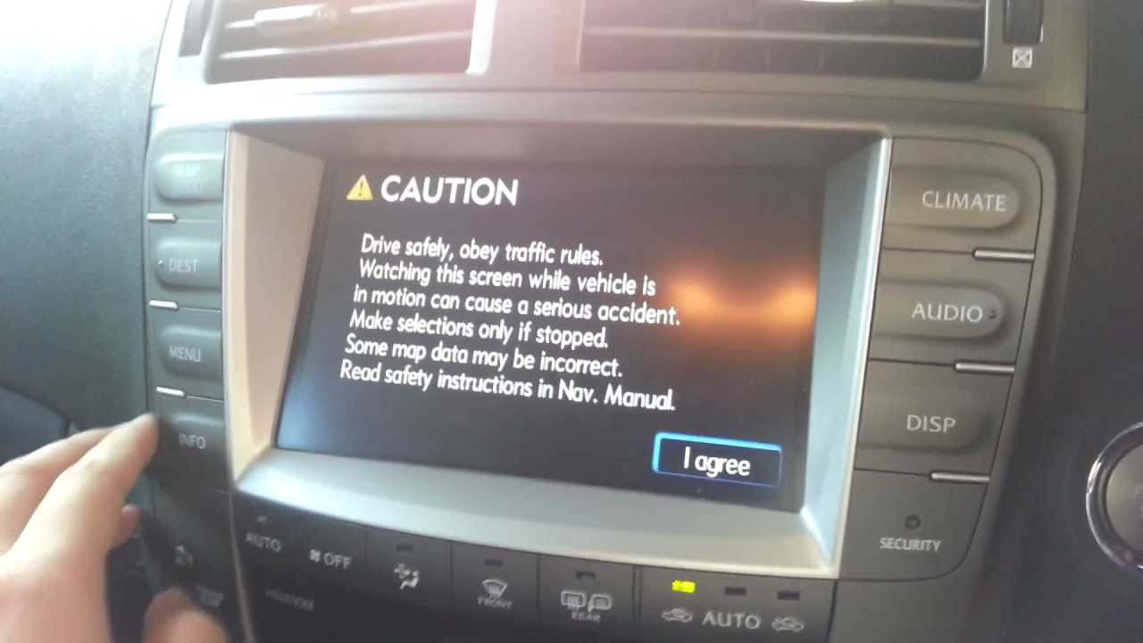 lexus is 250 navigation problem