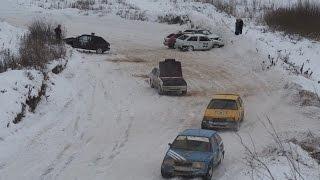 Автокросс «Рождественский кубок»  в Луховицком районе прошел на «ура»!