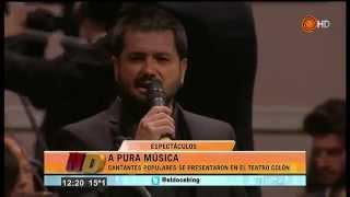 Duetos de cantantes populares en el Teatro Colón - Noticiero Doce