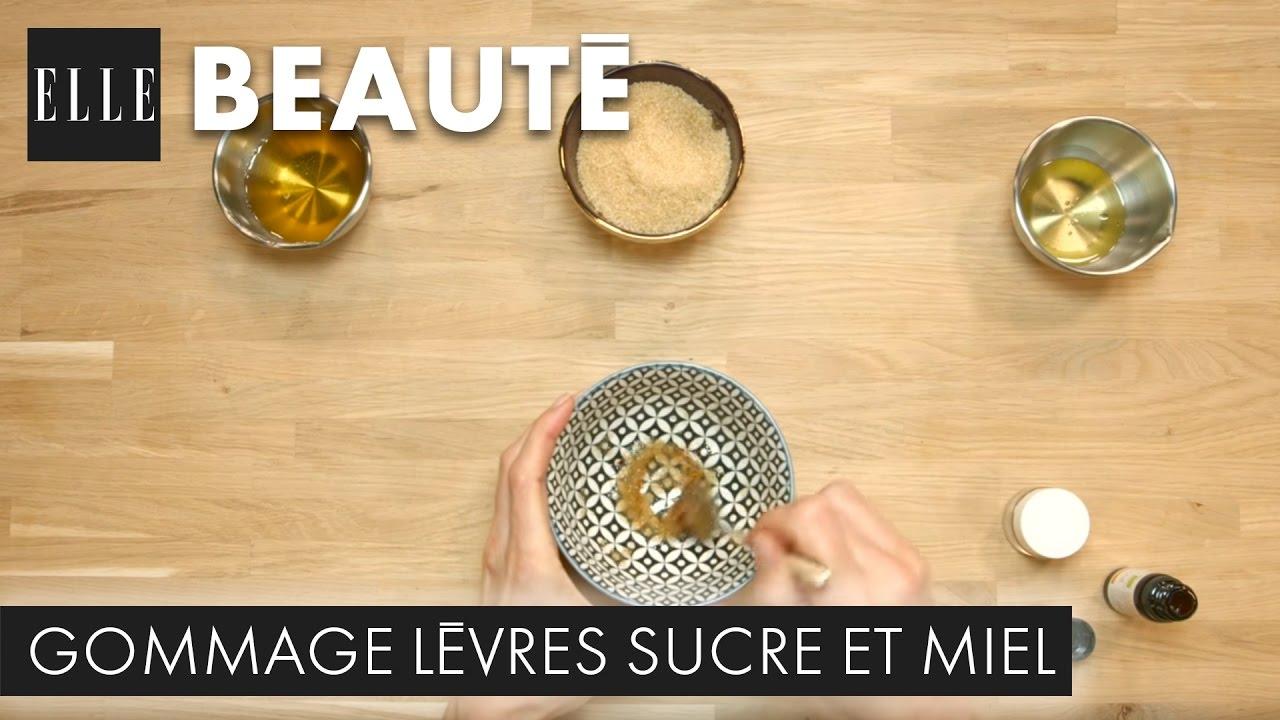 Diy Comment Faire Un Gommage Des Levres Au Sucre Et Au Miel I Elle Beaute Youtube