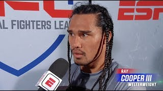 Ray Cooper III On Defeating his cousin Zane Kamaka | PFL 1 2019 Post Fight Interview With Ray Flores