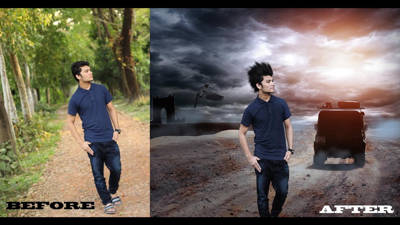 Adobe Photoshop cs6 photo edit - YouTube