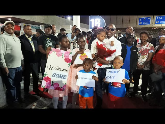 A Presidential Red Carpet Welcome For Jimmy Gait at JKIA