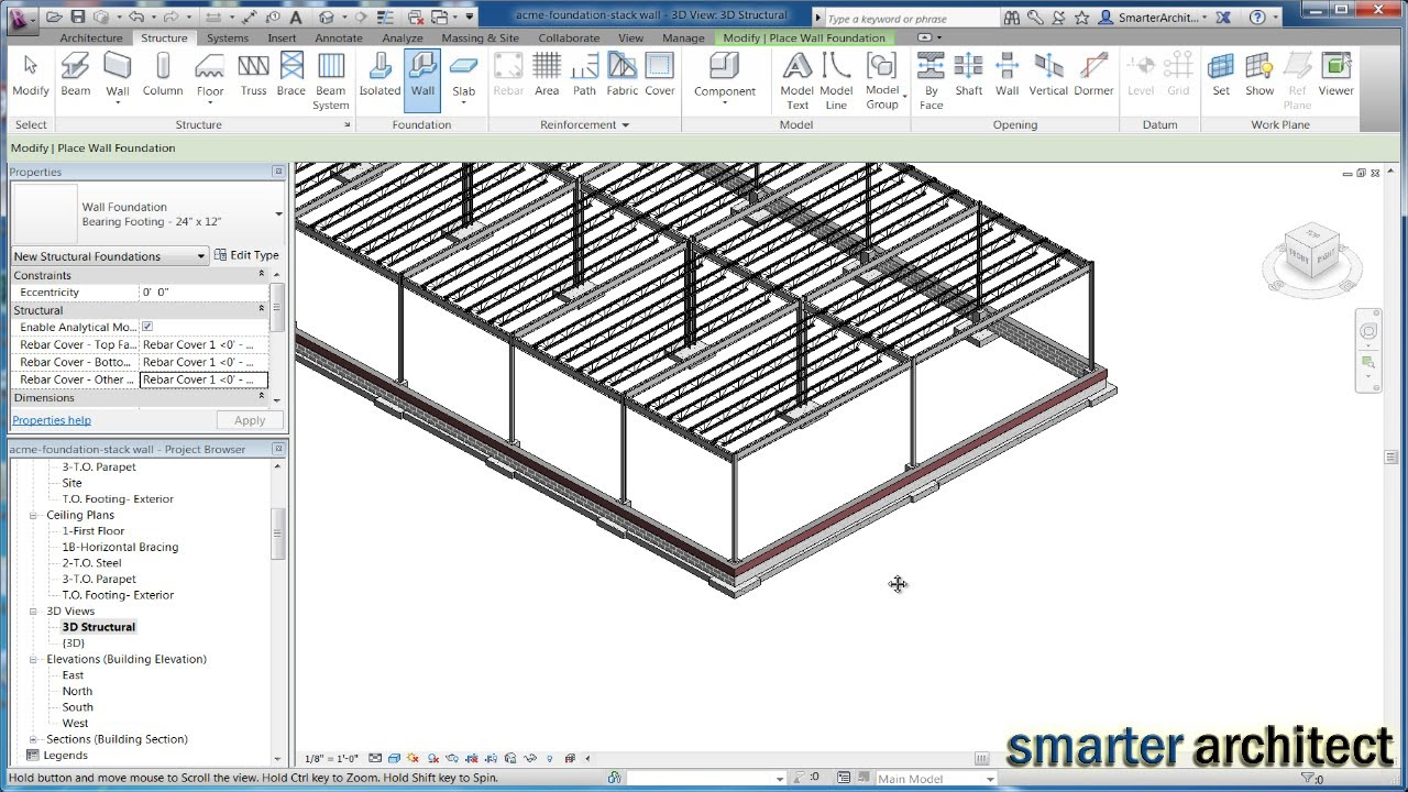Revit Structure Tutorial: Creating Revit Foundation Piers