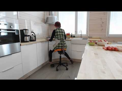 Salli Saddle chair at home, kitchen