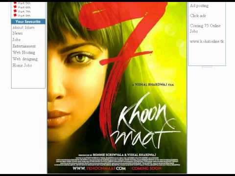7-khoon-maaf watch online or Download www.kohatonline.tk