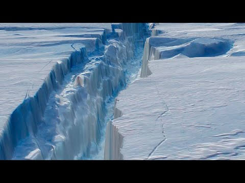 Massive crack might cause Antarctic ice shelf to break off; Greenland's ice melting - Compilation