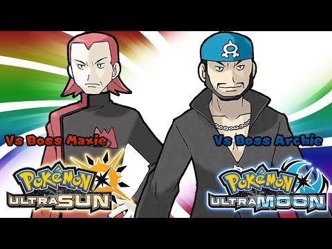 Pokemon UltraSun & UltraMoon - Aqua/Magma Leader Battle Music (HQ)