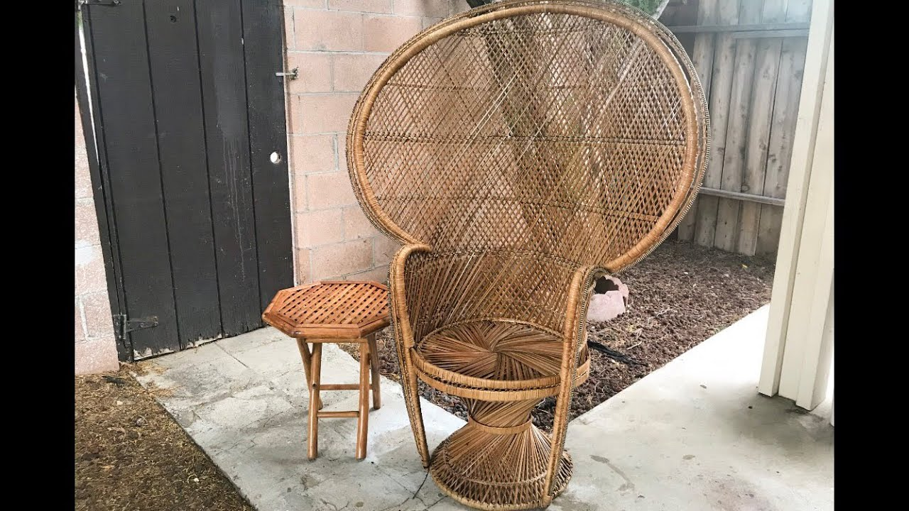 How to RESTORE a PEACOCK wicker CHAIR