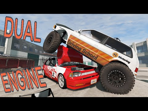 TWO ENGINES, ONE CAR - BeamNG.drive - Twin Engine Covet