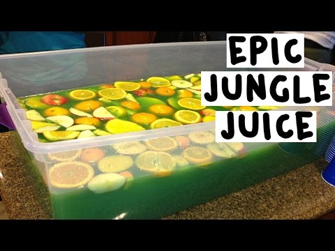 How to make an Epic Green Jungle Juice - Tipsy Bartender