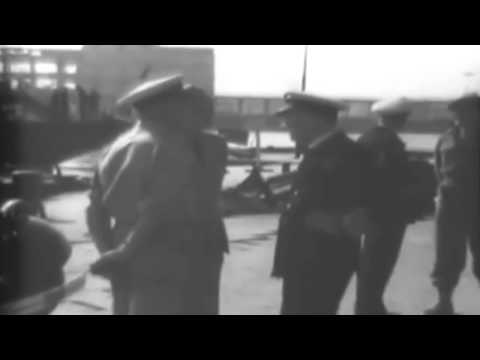 WW2 General George Patton On Port Inspection In Naples, Italy (full)