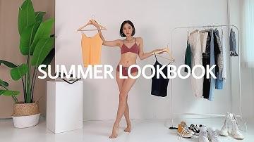 ✨피팅모델 언니가 알려주는 여름 기본나시 콛ㅣ룩북(feat.비브비브)